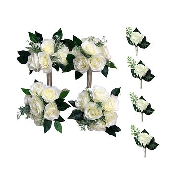 Pack of 8: Rustic Boho Bouquet Boutonniere
