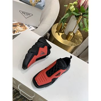 prada men fashion boots fashionable casual leather breathable sneakers running shoes 143