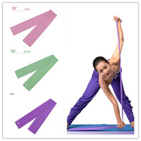 1.5M Latex Yoga Pilates Stretch Resistance Exercise Fitness Band Practice New