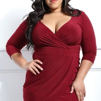 Miami Soiree Plus Size Mini Dress Dresses+ GS-LOVE
