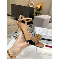 Valentino Fashion Women's Casual Running Sport Shoes Sneakers Slipper Sandals   High Heels Shoes 06062