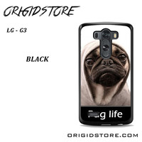 New Design Funny Hilarious Pug Life Parody Fans For LG G3 Case UY