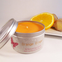 Orange Ginger Soy Candle --16 oz. tin
