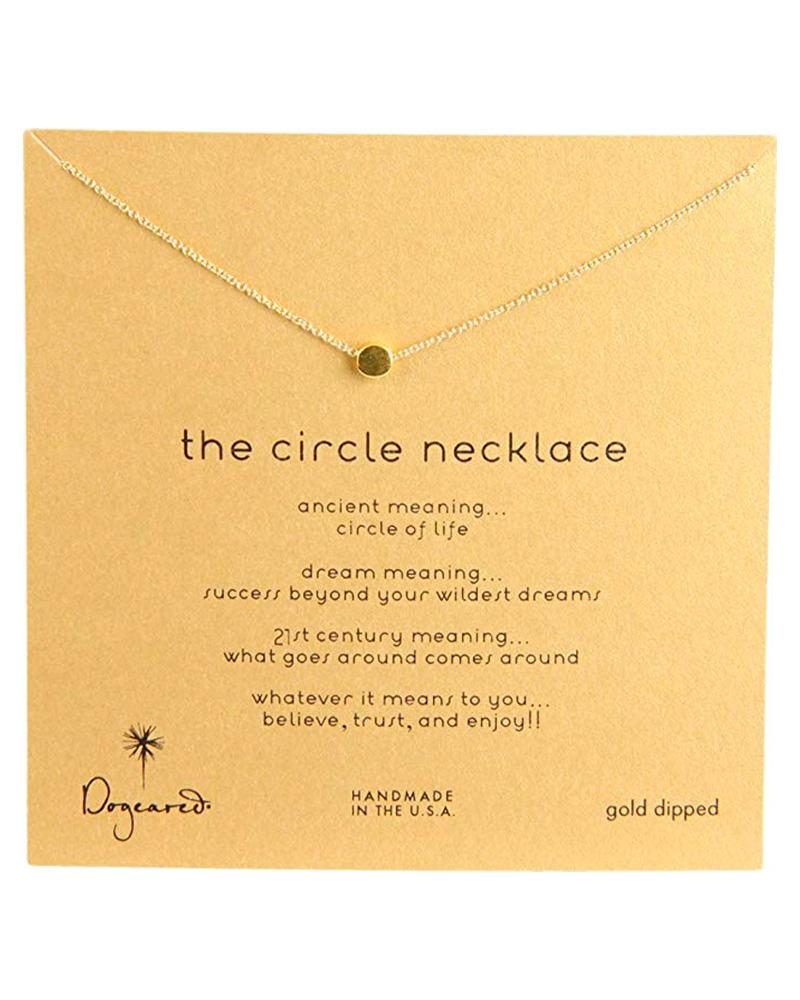 Image of Dogeared - Dainty Minimalist Circle Necklace, Gold Dipped