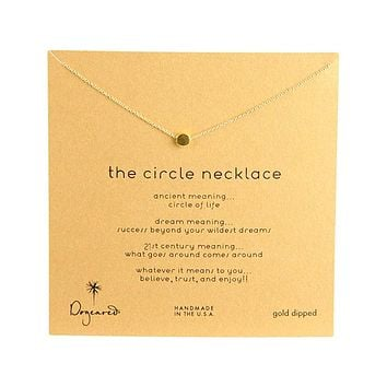 Dogeared - Dainty Minimalist Circle Necklace, Gold Dipped