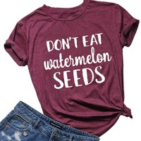 Don't Eat Watermelon Seeds Maternity Pregnant Women T-Shirt