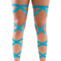 Pair of RaveReady Turquoise Leg Wraps : Rave Fluffies Wraps