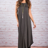 Boldly Go Maxi Dress, Gray