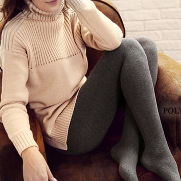 Pantyhose Winter Cotton Ladies Socks Cropped Pants [107232886809]