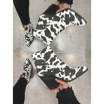 Fort Worth Cow Booties