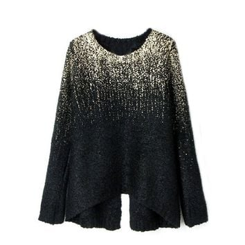 Women's Comfortable Lightweight Baggy Knitted Pullover Sweater Knitwear