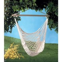 Gifts & Decor Cotton Rope Hammock Cradle Chair with Wood Stretcher (Discontinued by Manufacturer)
