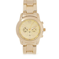 FOREVER 21 Menswear-Inspired Chronograph Watch Gold One