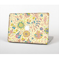 The Subtle Yellow & Pink Sketched Lace Patterns v21 Skin Set for the Apple MacBook Air 13""