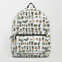 Succulents Backpack by doucettedesigns