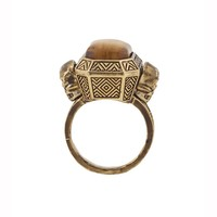House of Harlow 1960 Jewelry Double Skull Ring