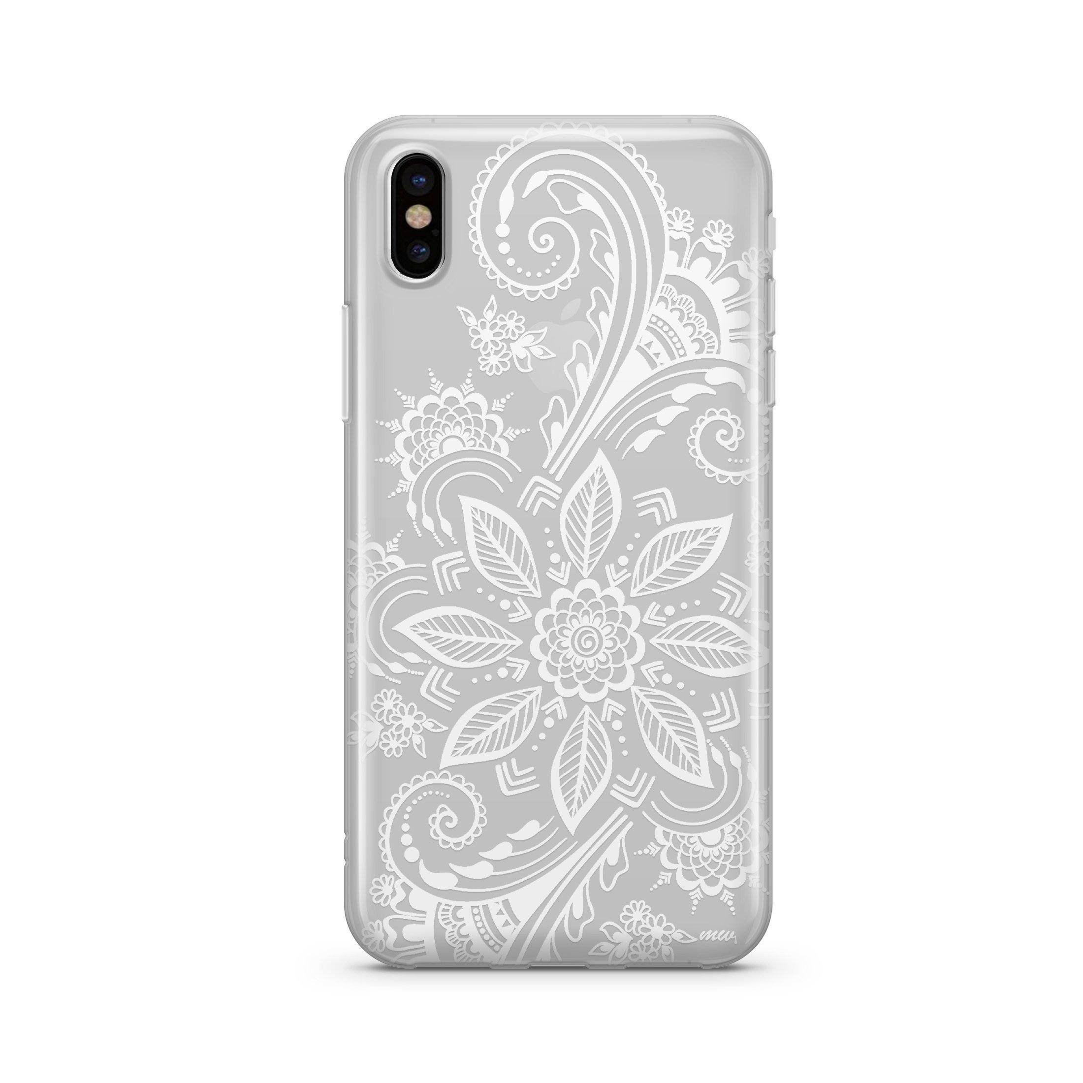 Image of Winter Henna - Clear TPU - iPhone Case