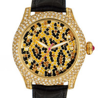 Betsey Johnson 'Bling Bling Time' Leopard Dial Watch | Nordstrom