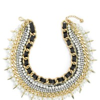 Multi Layer Ribbon Statement Necklace by Juicy Couture