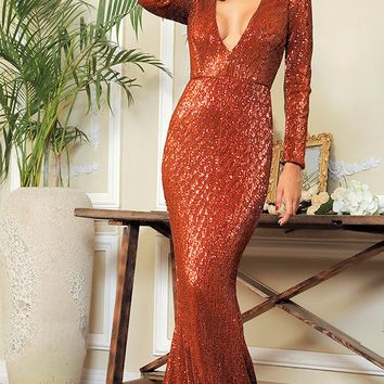 Asia Sequin Luxe Gown