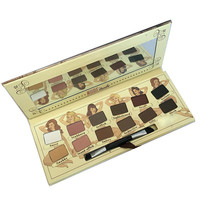 New Fashion Brand Tude Eyeshadow Palette Collection Cosmetic 12 Colors Pro Face Makeup Set Eye Shadow with Brush