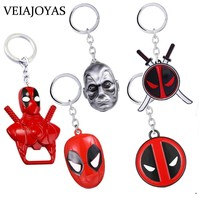 Deadpool Dead pool Taco Marvel Superhero  Mask Keychains High Quality Alloy Jewelry for Movie Fans Women Charms Men Car Keyring Holder  AT_70_6