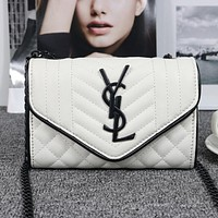 YSL Yves Saint Laurent Women Shopping Bag Leather Chain Shoulder Bag Satchel  Crossbody