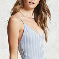 Crushed Velvet Stripe Bodysuit