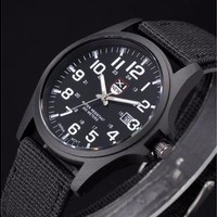 New Mens watch  Date Stainless Steel Military Outdoor Sports Analog Quartz Army Wrist Watch Fashion Black Watches [8833499340]