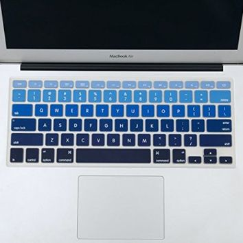 """Mosiso - Keyboard Cover Silicone Skin for MacBook Air 13"""" and MacBook Pro 13"""" 15"""" 17"""" (with or w/out Retina Display) iMac -mix Black Ombre"""