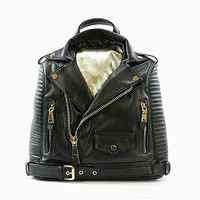 Biker Jacket Leather Backpack