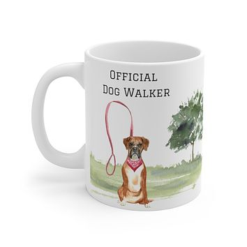 Official Dog Walker Mug — Boxer