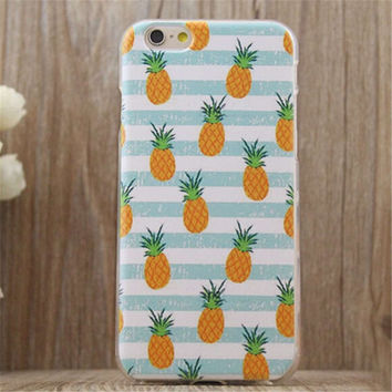 Cute Pineapple iPhone 7 7Plus & iPhone 6s 6 Plus Case Very Light Superior Quality Cover + Gift Box