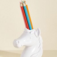 Back to the Drawing Horn Pencil Holder   Mod Retro Vintage Desk Accessories   ModCloth.com