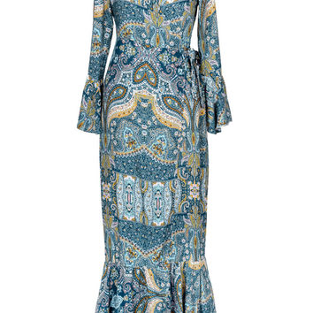Cupshe Romantic Mystery Paisley Long Cover-up