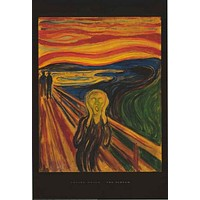 Edvard Munch The Scream Art Poster 24x36