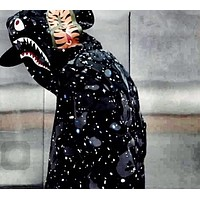 Aape Bape Star Shark mouth ape head hooded Slim casual jacket M--XXL