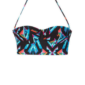 99 Degrees Abstract Underwire Midkini & 99 Degrees Abstract Tab Hipster