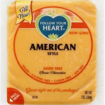 Follow Your Heart: American Style Cheese Alternative Block, 7 Oz
