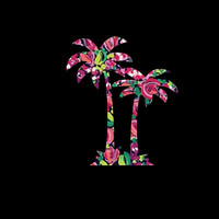Palm Tree Decal, Lilly Pulitzer Inspired, single or double, your choice!!