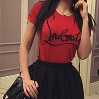 Red Letters Printed T-Shirt