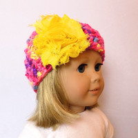 Crochet Doll Hat 18 Inch Doll Clothes AG Doll Hat