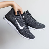 Black Breathable Sneakers Sport Shoes
