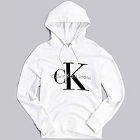 Calvin klein Fashion Long Sleeve Pullover Sweatshirt Top Sweater Hoodie
