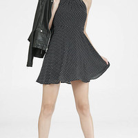 Dot Print Sleeveless Fit And Flare Dress from EXPRESS