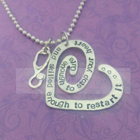 Cute enough to stop your heart and skilled enough to restart it-- Nurse/RN necklace