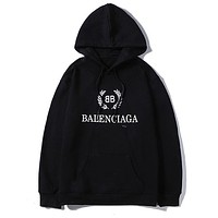 Balenciaga fashion casual hoodies are hot sellers with printed hoodies Black