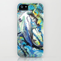 The Difficulties of the Water Soluble Shark iPhone & iPod Case by Hanna Lemoine