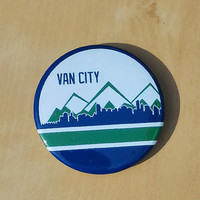 Van City - Vancouver Skyline 2 Inch Button
