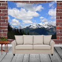 Wall Tapestry - 'North Cascades Calling' - Home Decor - Wall Decor, Modern, Home Warming Gift, Symmetry, Bohemian, Boho, Scenery, Nature